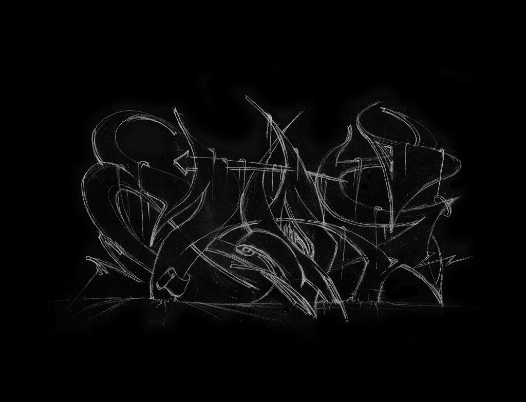 151029 Graffiti Sketches -9- MAOS Black
