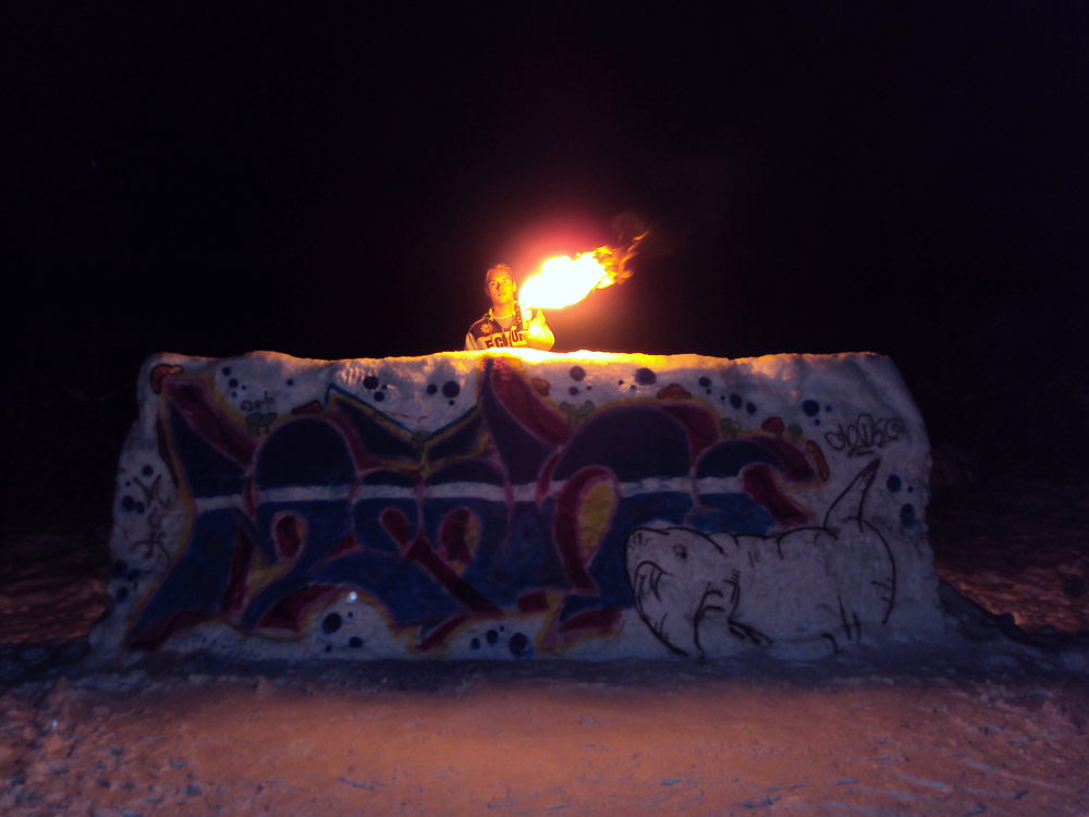 151029 Graffiti Walls -18- Snow Wall on Fire - 10.12.2009