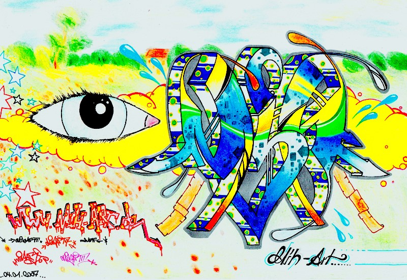 151029 Graffiti Sketches -14- MIH Auge